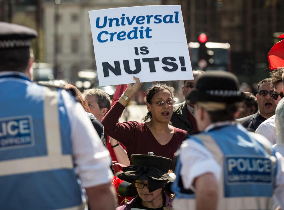 Campaigners have fought against a universal credit roll-out beset by problems