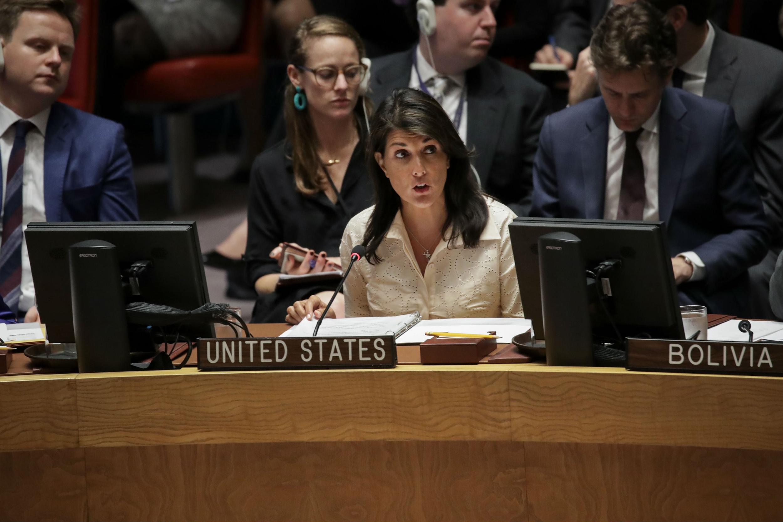 Nikki Haley tells UN 'no country would act with more restraint than Israel has' as Gaza deaths pass 60