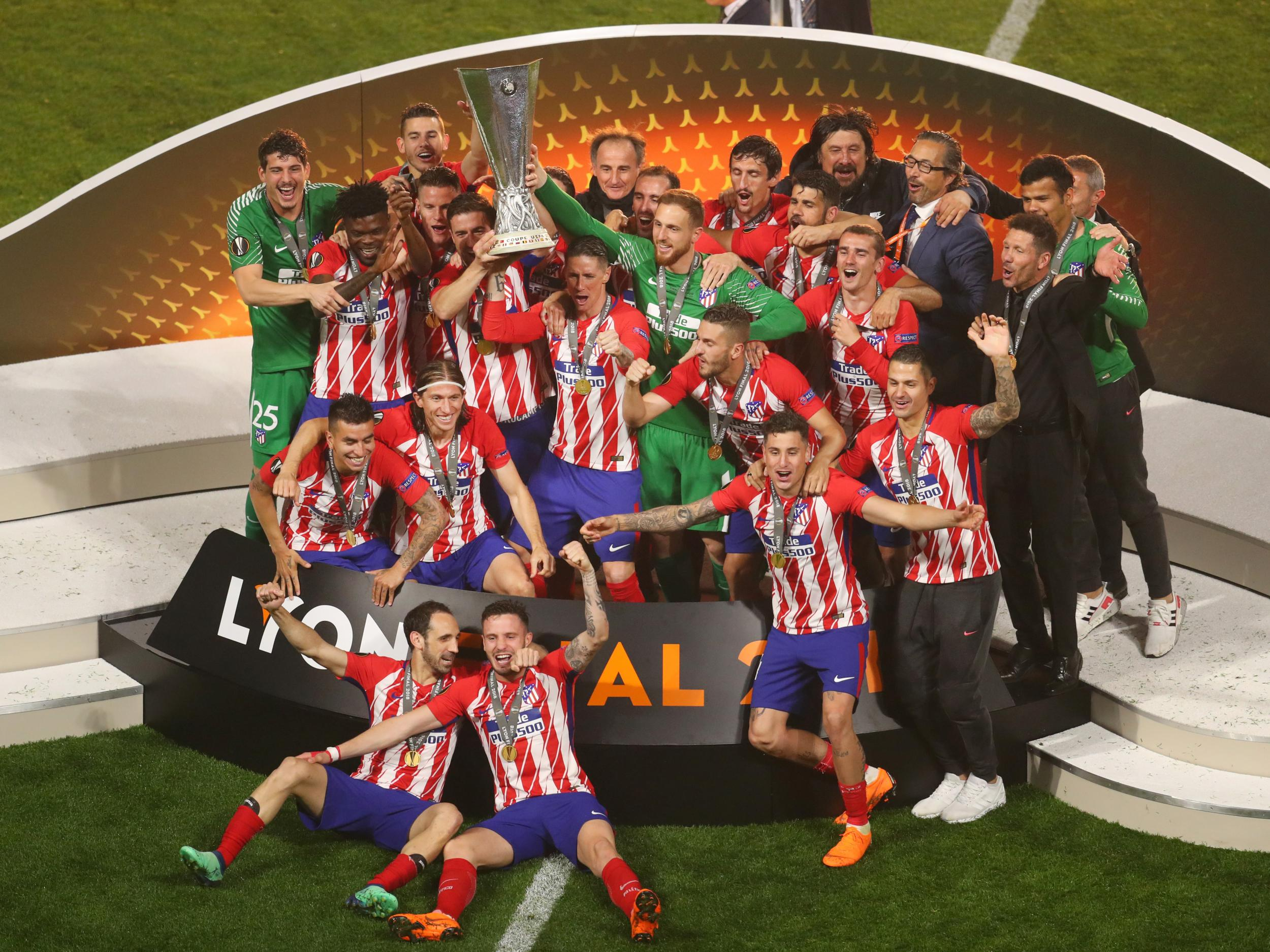 Atletico madrid clinch europa league after antoine for Exterior atletico de madrid