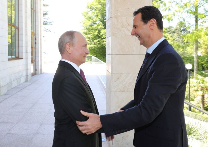 Syrian president Assad flies to Russia to meet for talks with Putin