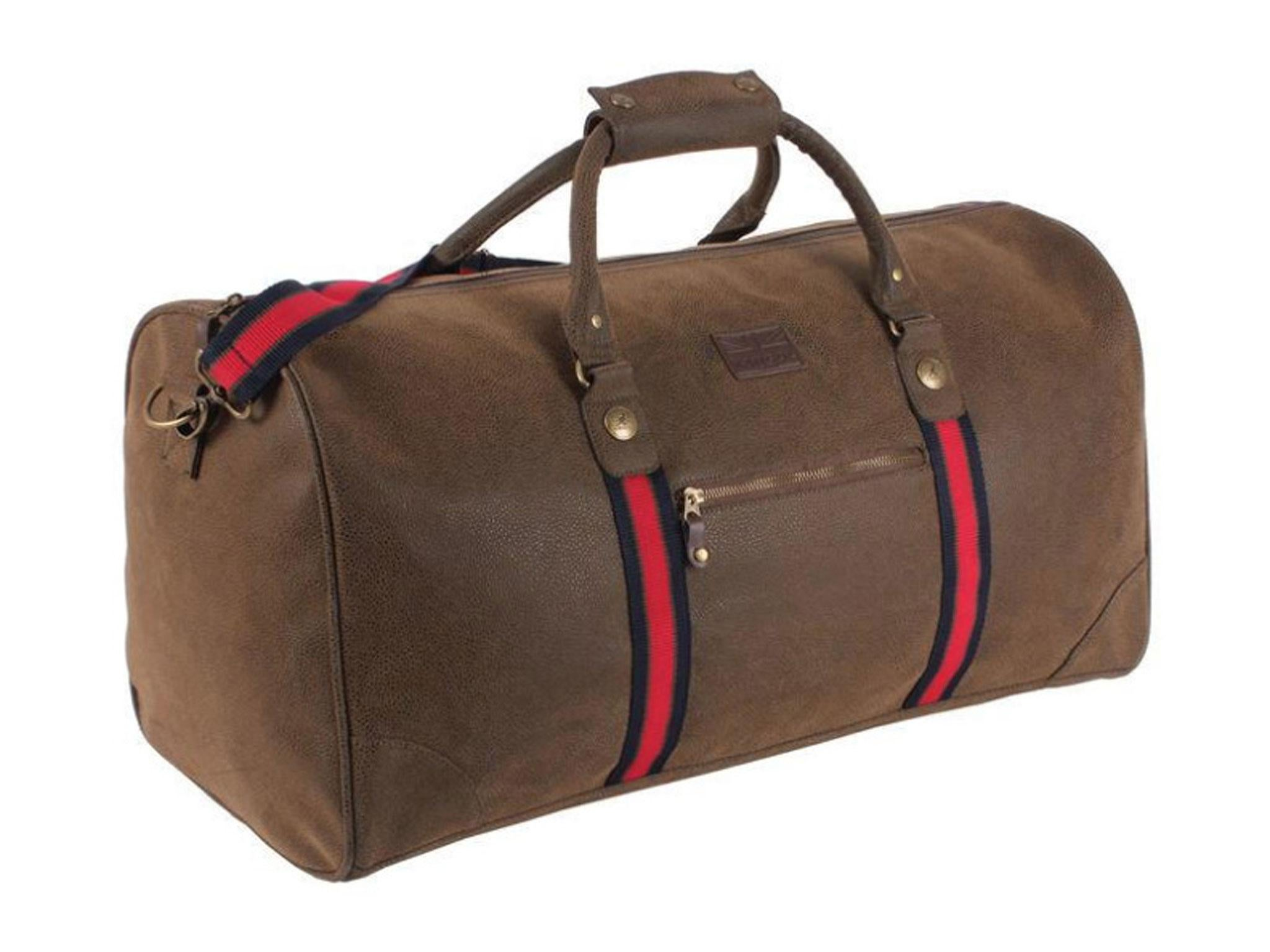 This Kangol holdall looks stylish if you re going to the gym via work. It s  much bigger than the Slazenger gym bag above. It has one small internal  zipped ... 2e4339b6d6