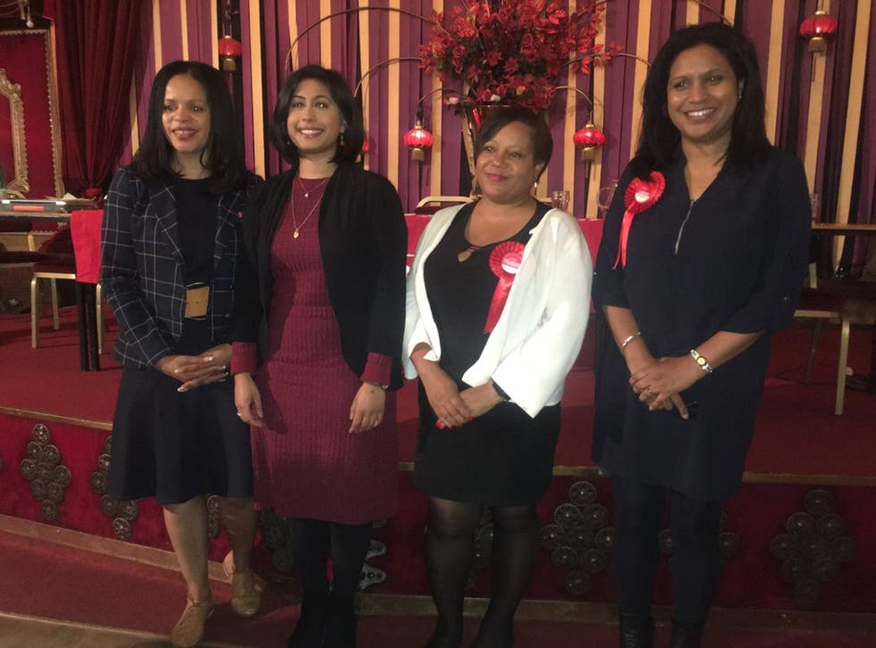 Labour candidates Claudia Webbe, Sakina Sheikh, Brenda Dacres and Janet Daby (Twitter: Janet Daby)