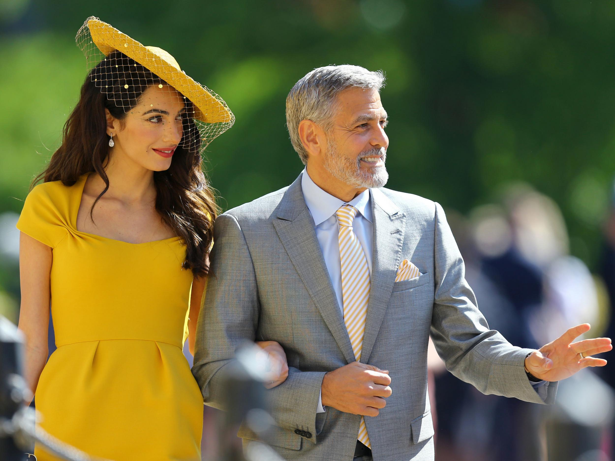 George Clooney reportedly poured shots of his billion-dollar tequila brand at royal wedding after-party