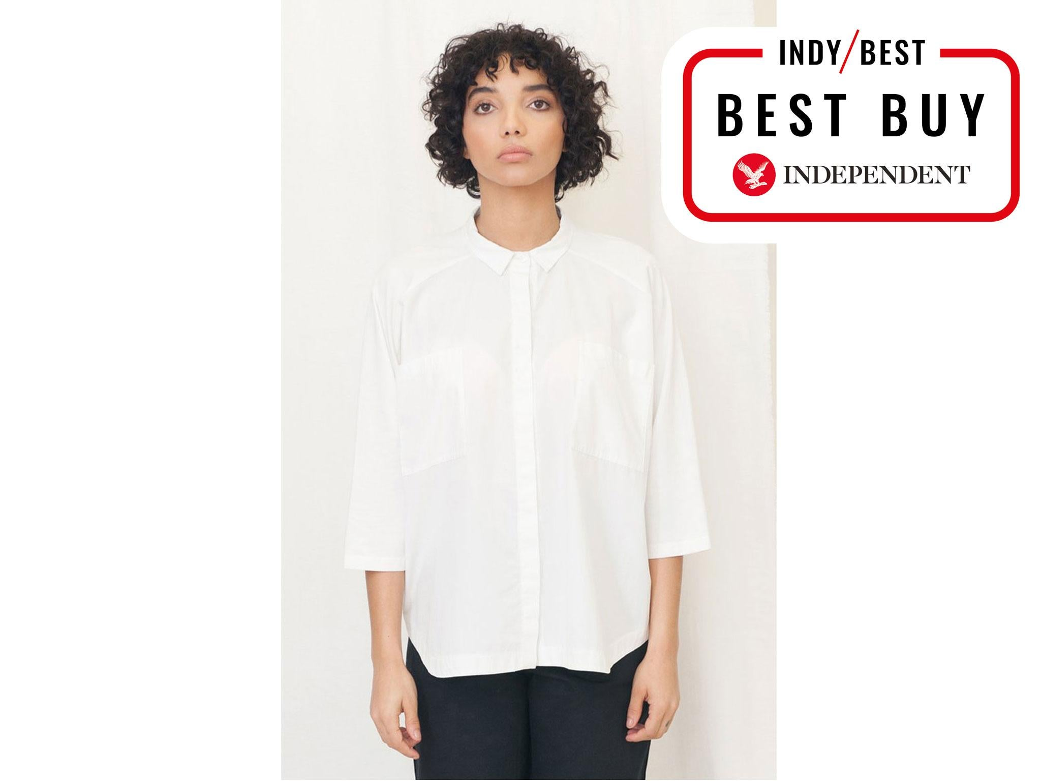 bc28d1b7f7 Beaumont Organic Stephanie Organic Cotton Shirt in White  £120