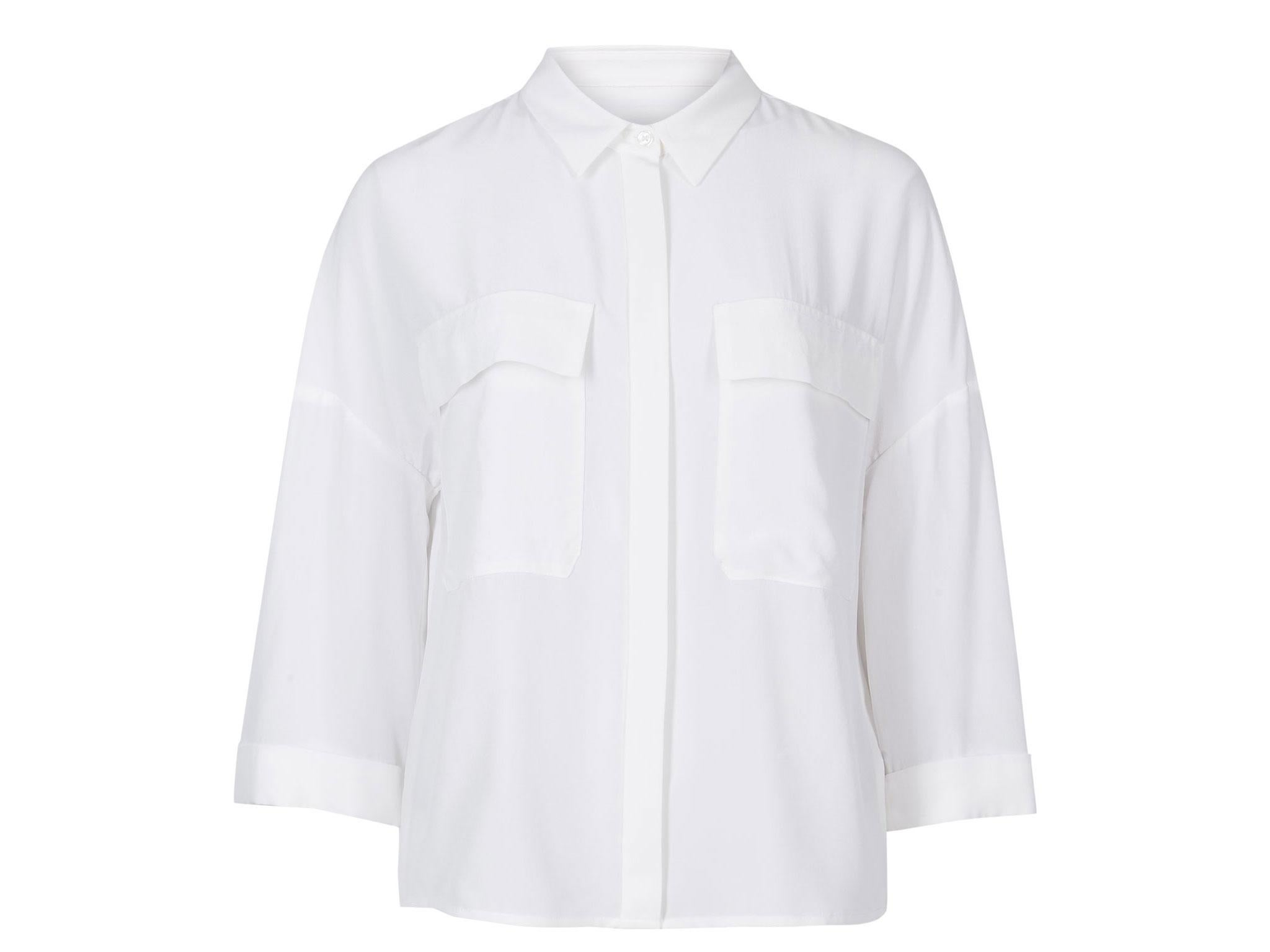Marks Spencer Pure Silk 3 4 Sleeve Shirt 69 Ms