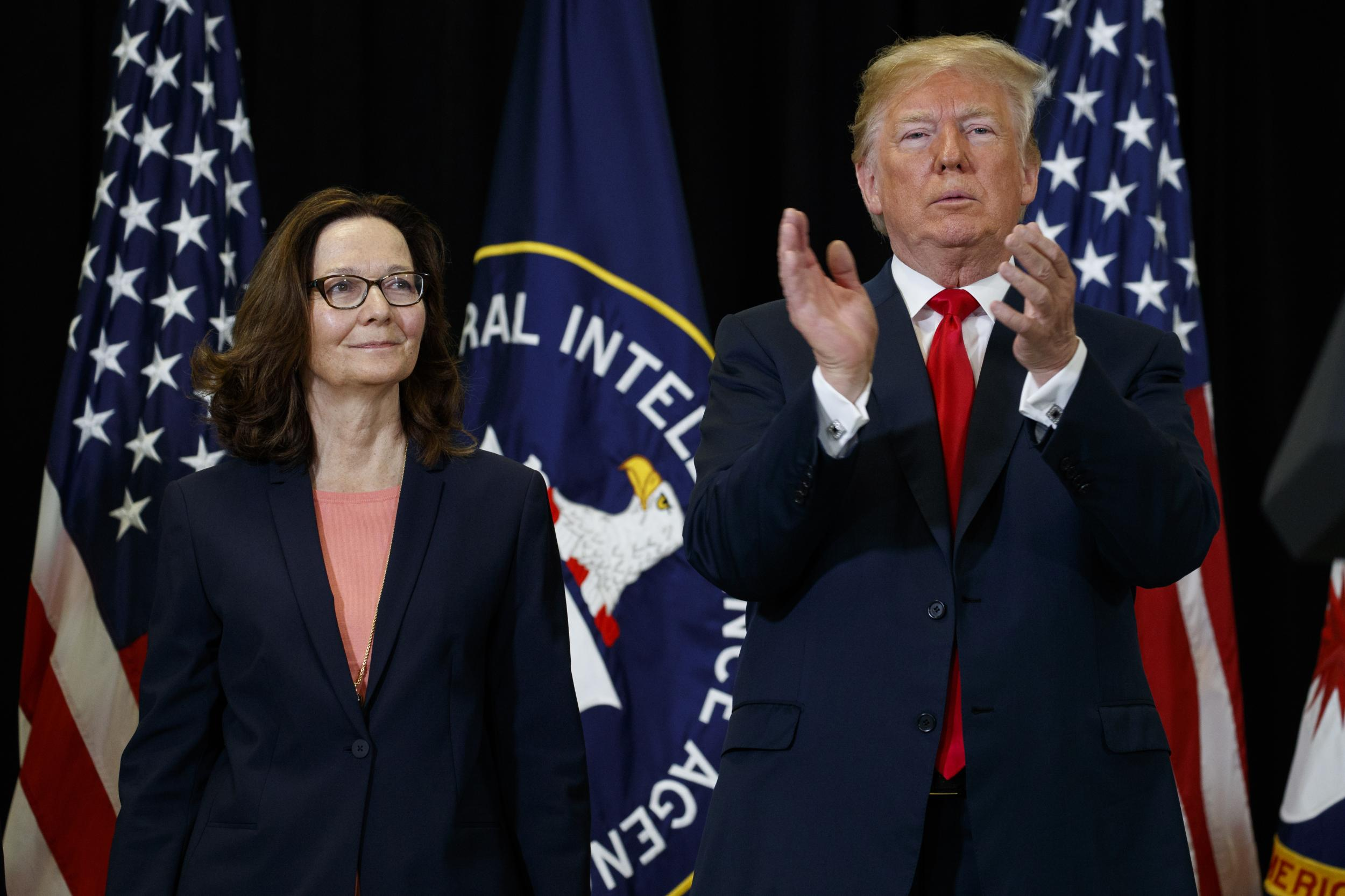 Trump says CIA is 'reasserting America's strength' at Haspel's swearing-in while still accusing FBI of 'spying'