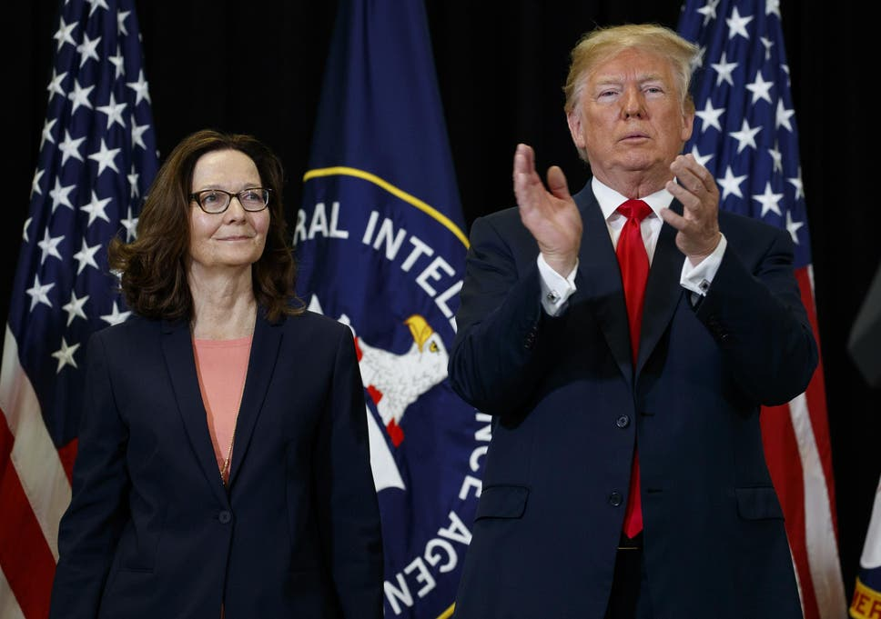 Trump says CIA is 'reasserting America's strength' at Haspel's