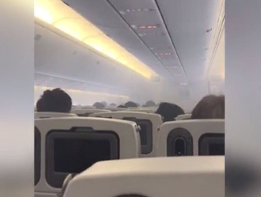 Plane evacuated after oil fumes fill cabin moments before take-off