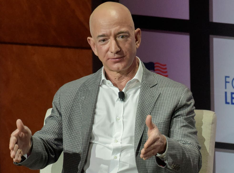 Jeff Bezos spoke to staff at a meeting in Seattle
