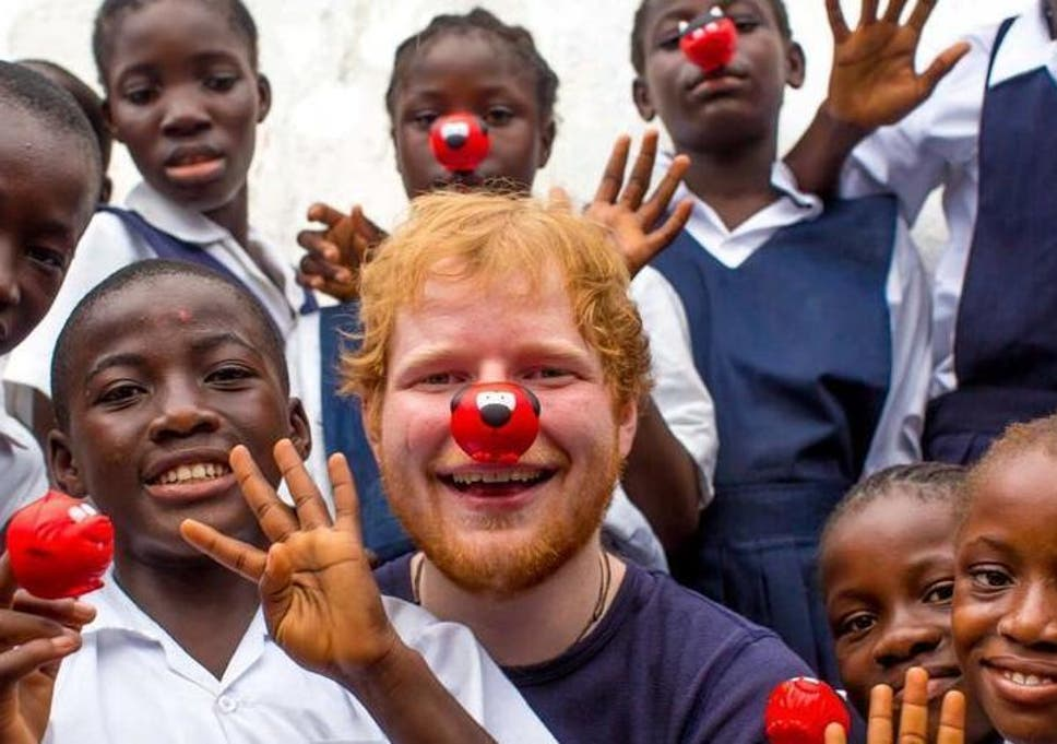 Ed Sheeran helps raise awareness for Red Nose Day (Comic Relief)