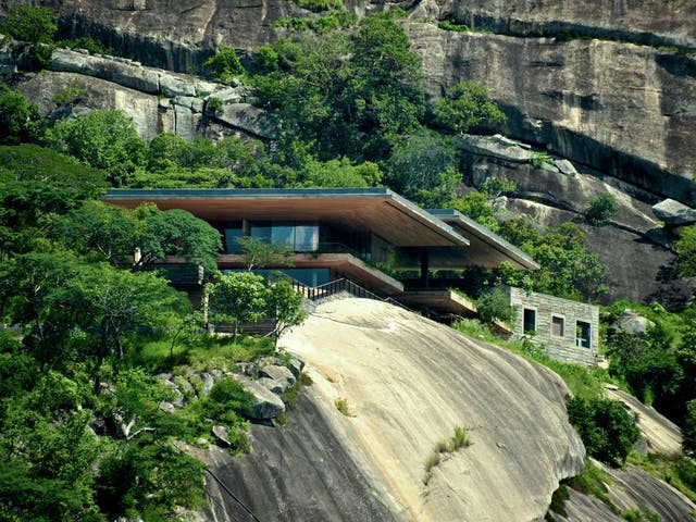 The structure was designed to frame its surroundings