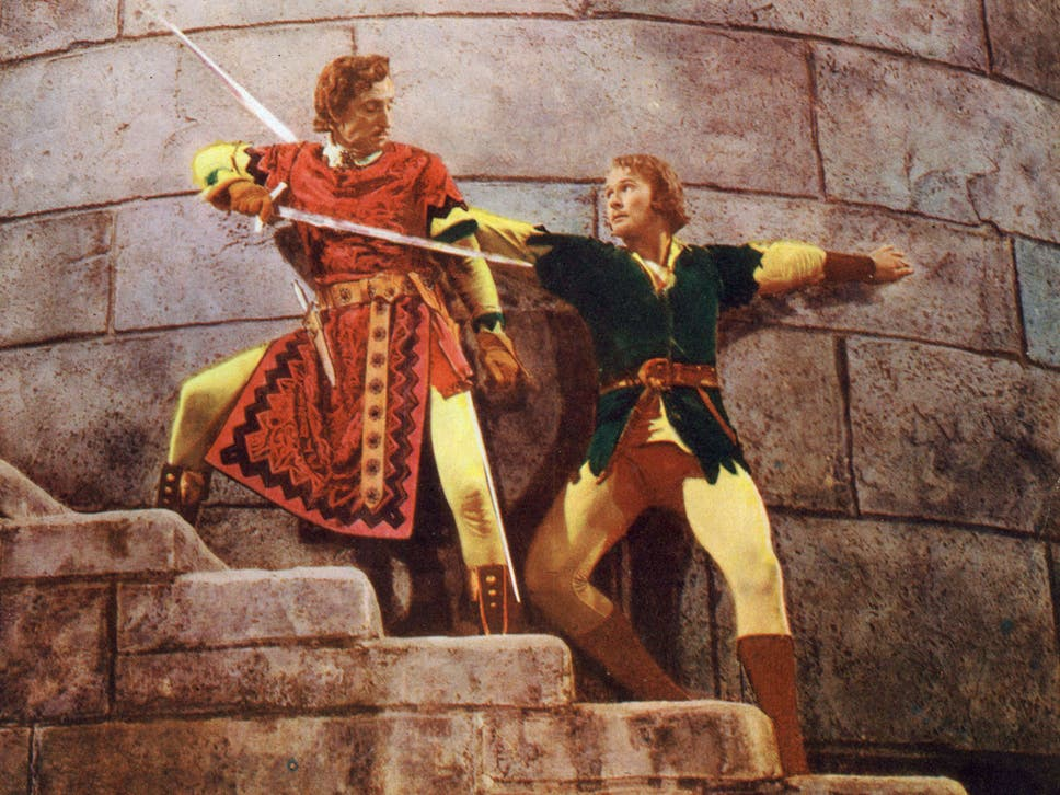 Adventures of robin hood at 80 the 10 greatest swashbuckling movies tight corner basil rathbone and errol flynn in the adventures of robin hood fandeluxe Images