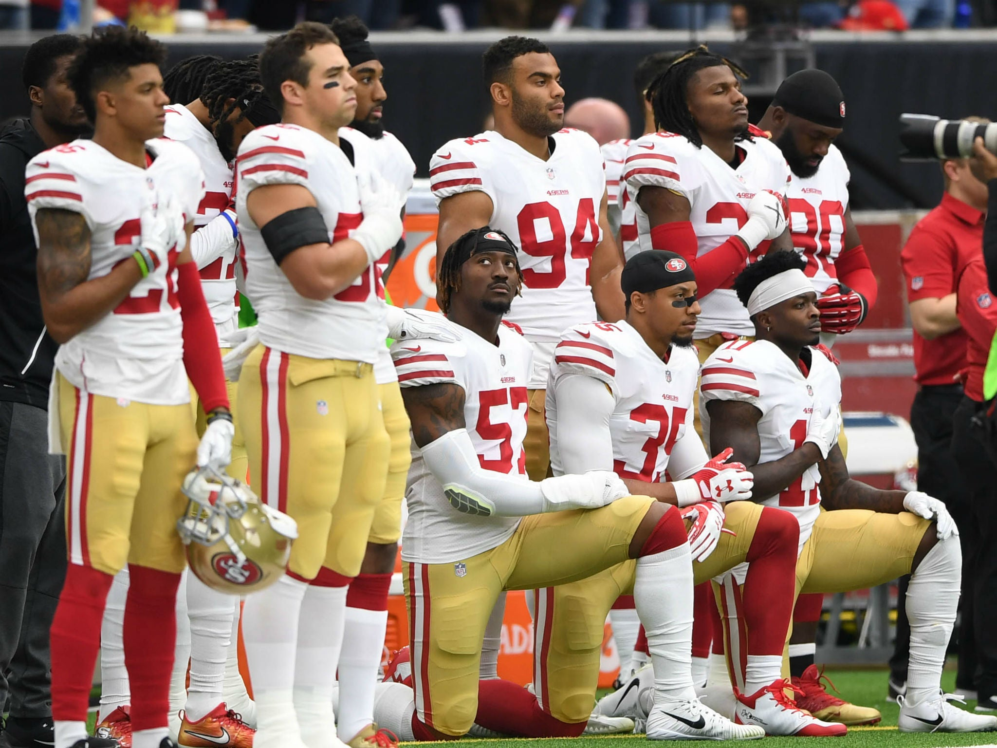 the modern societys of america and the national anthem in the nfl Nearly two-thirds of americans say nfl players should stand and be respectful during the playing of the national anthem, according to a survey released the survey also found that 80 percent of voters want less politics in sports, while 51 percent say they are watching less football than in previous years.