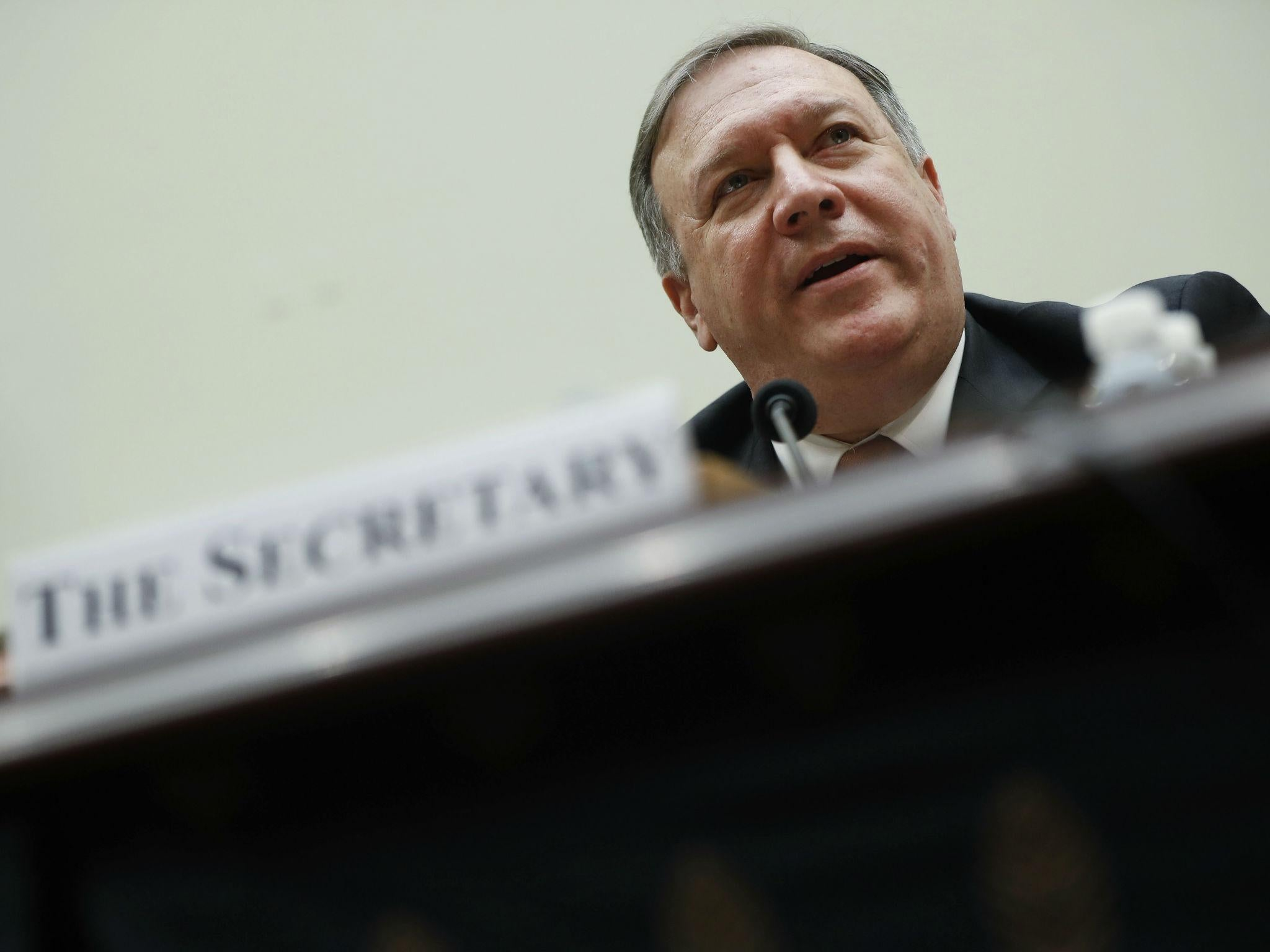 Mike Pompeo says guided missiles 'decrease risk' of civilian deaths as Congress reviews Saudi arms sale