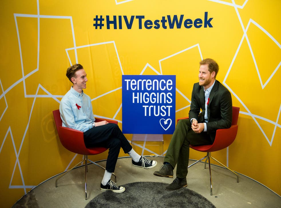 Andrew pictured with Prince Harry for the Terrence Higgins Trust