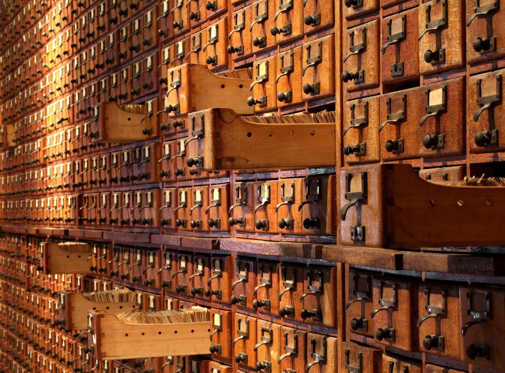 The museum holds more than 12 million index cards and documents