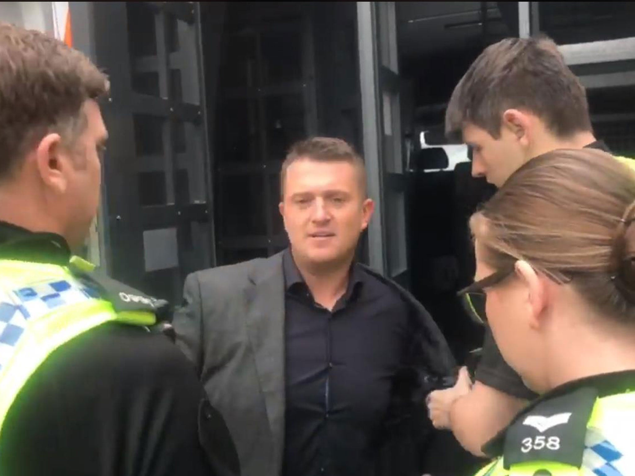 Image result for tommy robinson arrest may 2018