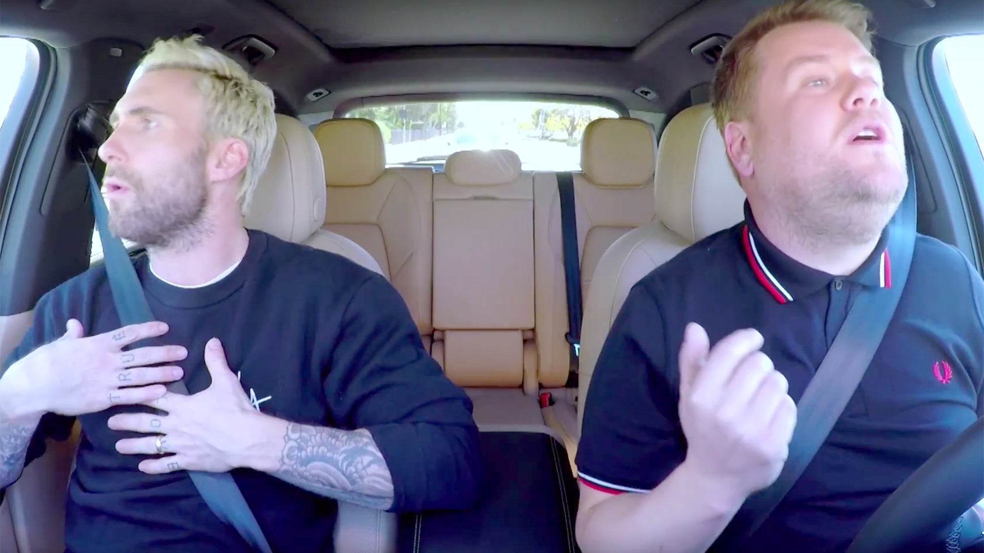 James Corden And Adam Levine Pulled Over By Police During Carpool