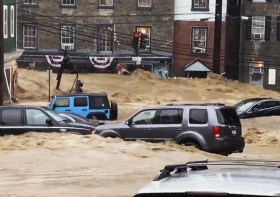 Maryland flooding: videos show ellicott city streets turned into.