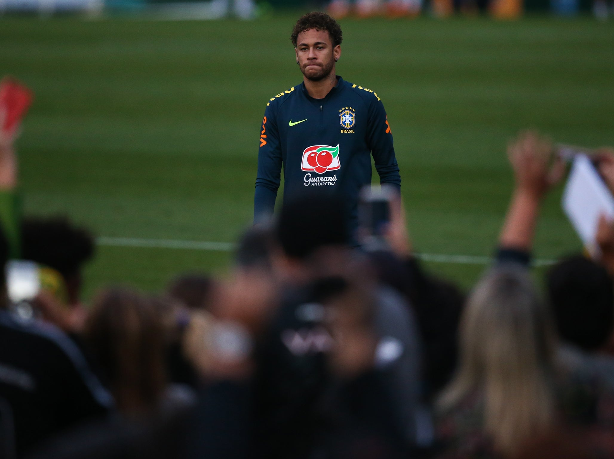 9f13b1dd3 World Cup 2018  Neymar admits he is  not 100%  ahead of tournament as Brazil  sweat over his fitness