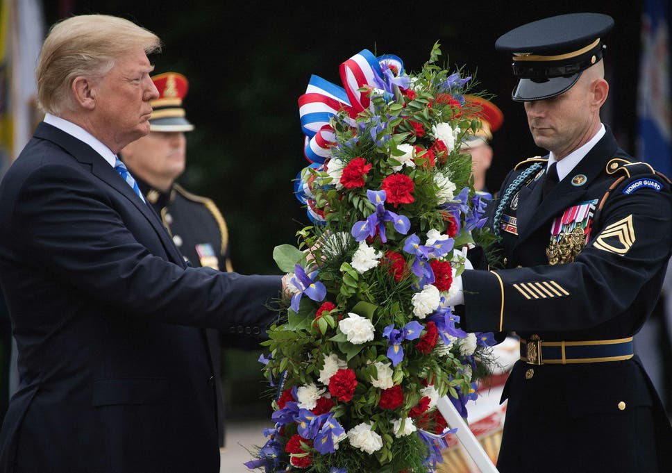5c45f178c3566 Memorial Day: Trump claims fallen veterans would be 'very happy and proud'  at how country is doing