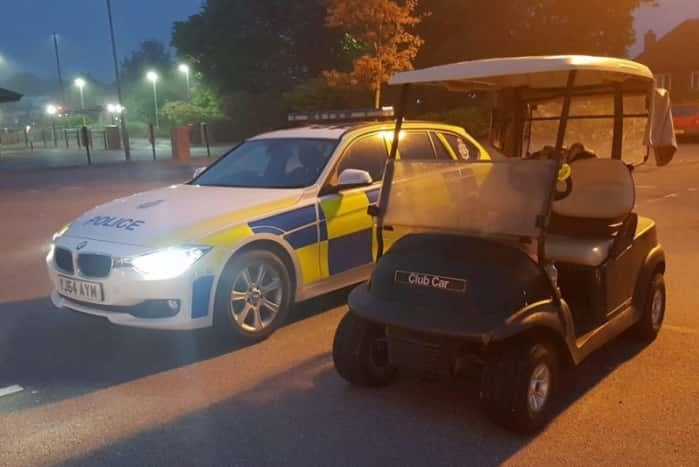 Teenager who drove golf buggy to McDonald's drive-through