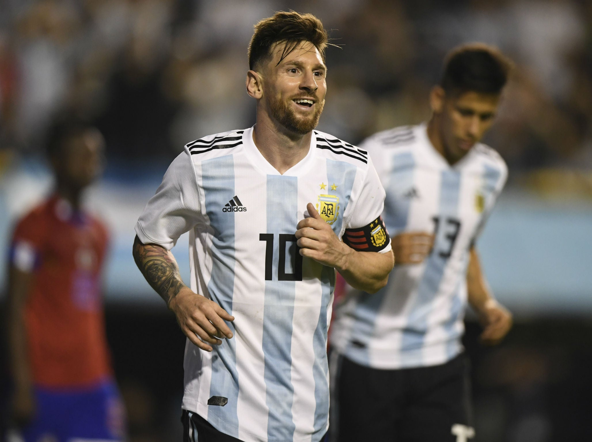 World Cup 2018  Lionel Messi hits hat-trick as Argentina hammer Haiti  before heading to Russia  dde9379bd