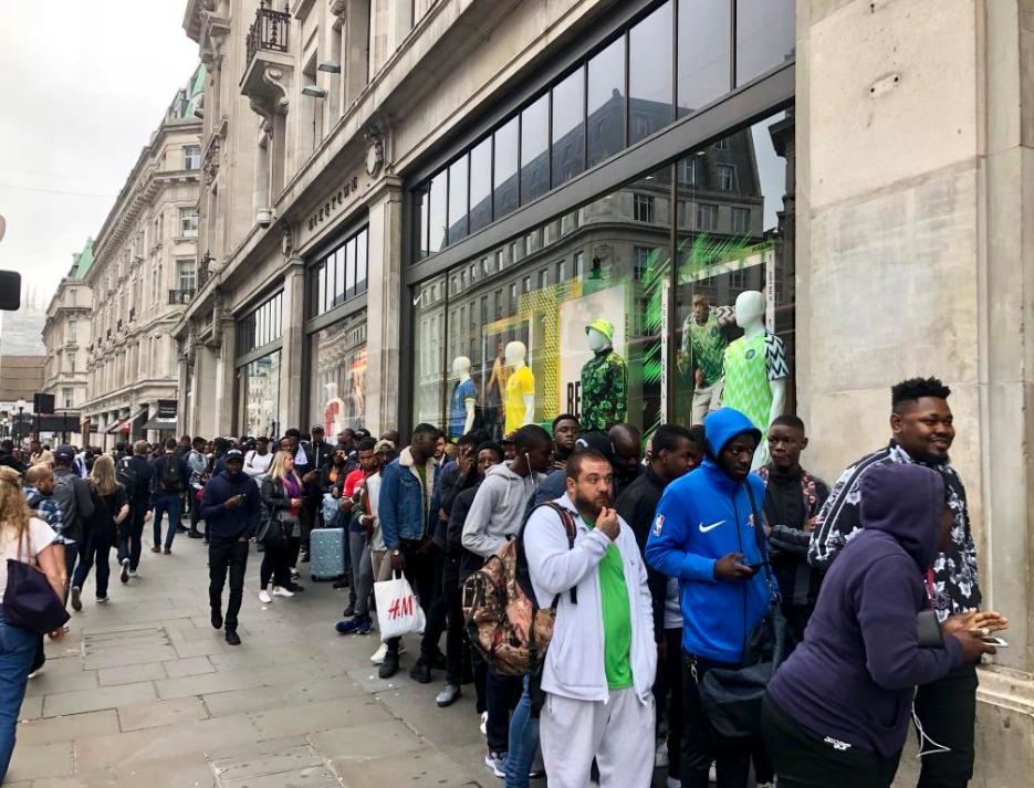 529ce2b49dc Nigeria World Cup 2018 kit  Home Nike shirt sold out in minutes as fans  queue around the block