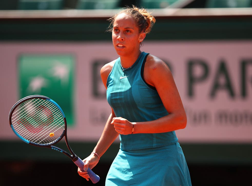 The American has not dropped a set in her first four matches in Paris