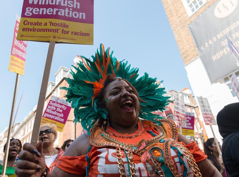 Demonstrators march against the 'hostile environment' last year