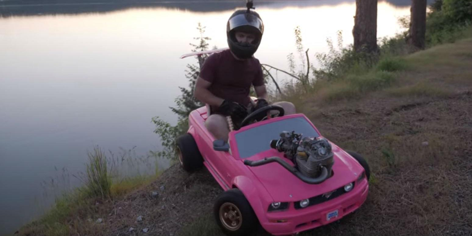 These People Put A Real Engine In A Barbie Car And It S