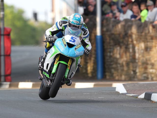 Dean Harrison is in action at the North West 200 this week