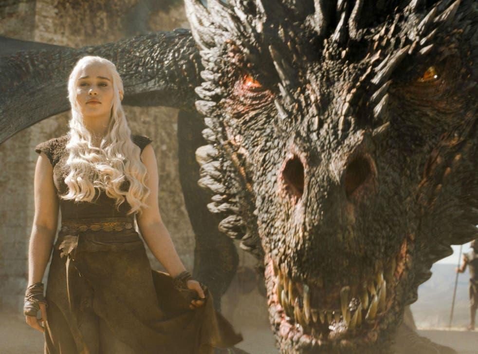 Emilia Clarke as Daenerys Targaryen in 'Game of Thrones' (HB