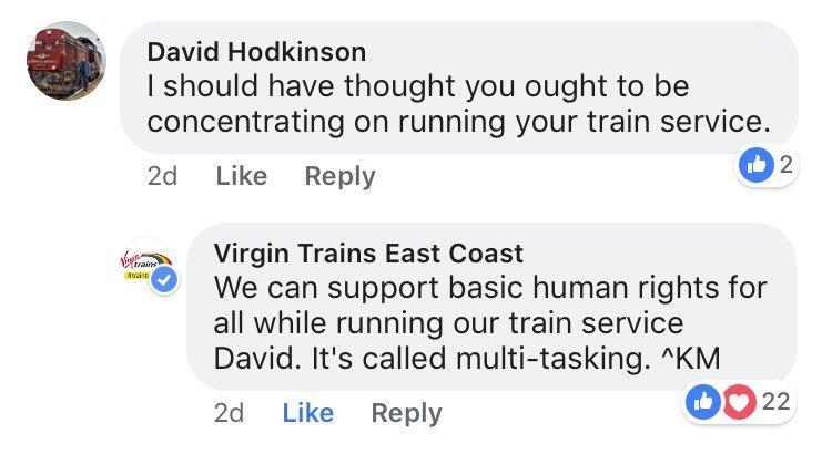 This heroic Virgin Trains employee is the LGBT+ ally we all