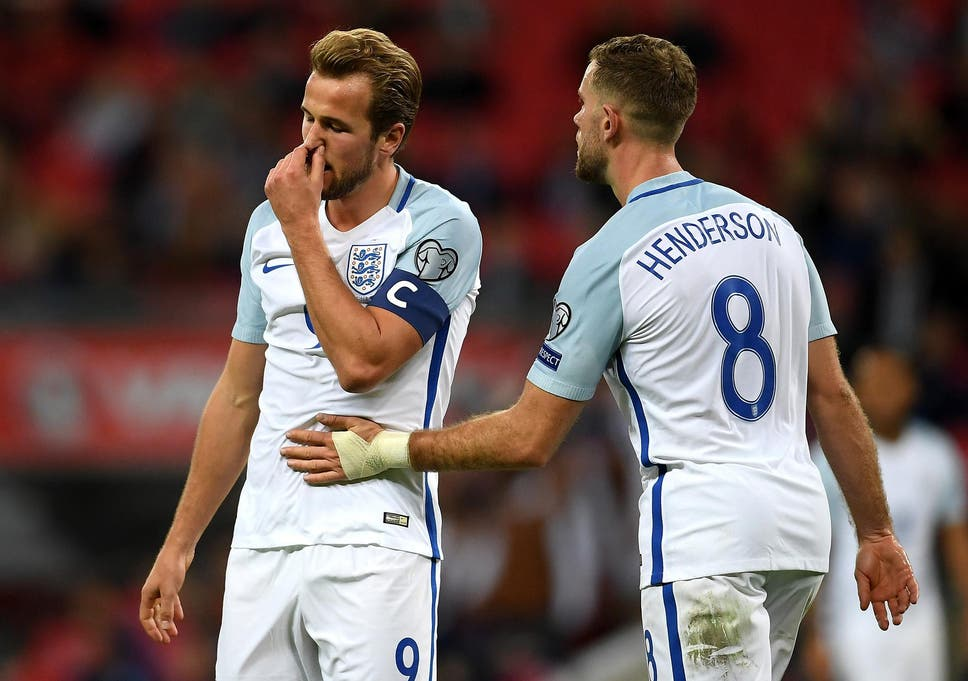 fa89c481e Jordan Henderson (right) missed out on the England captaincy to Harry Kane  (left
