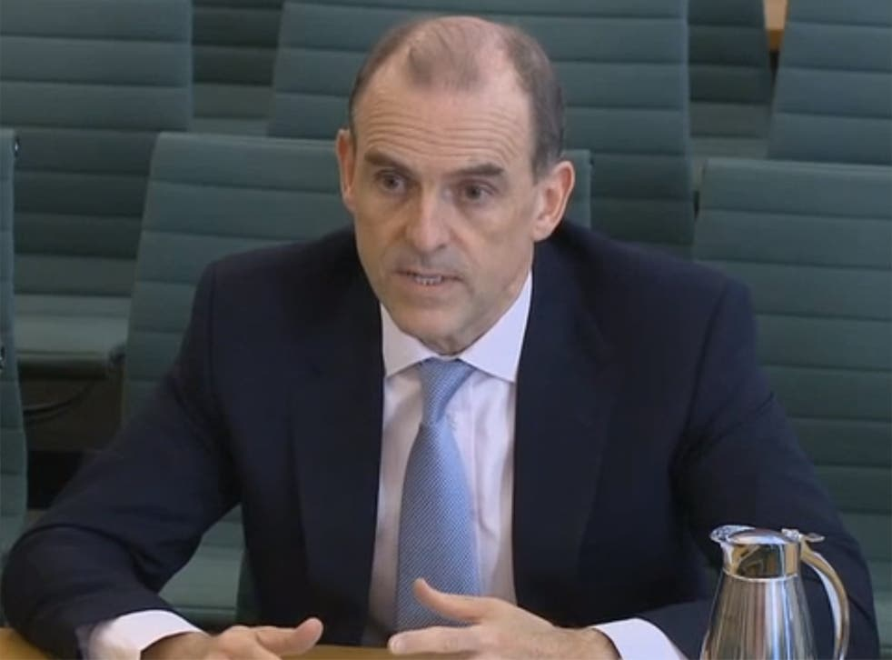The bank's now former boss in front of the Treasury Committee over the bank's IT issues