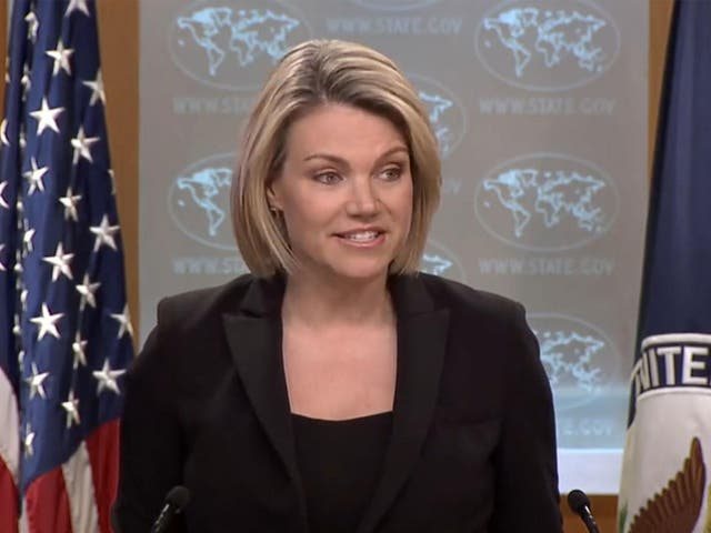 State Department spokeswoman Heather Nauert said 'a number of individuals' had been brought to the US