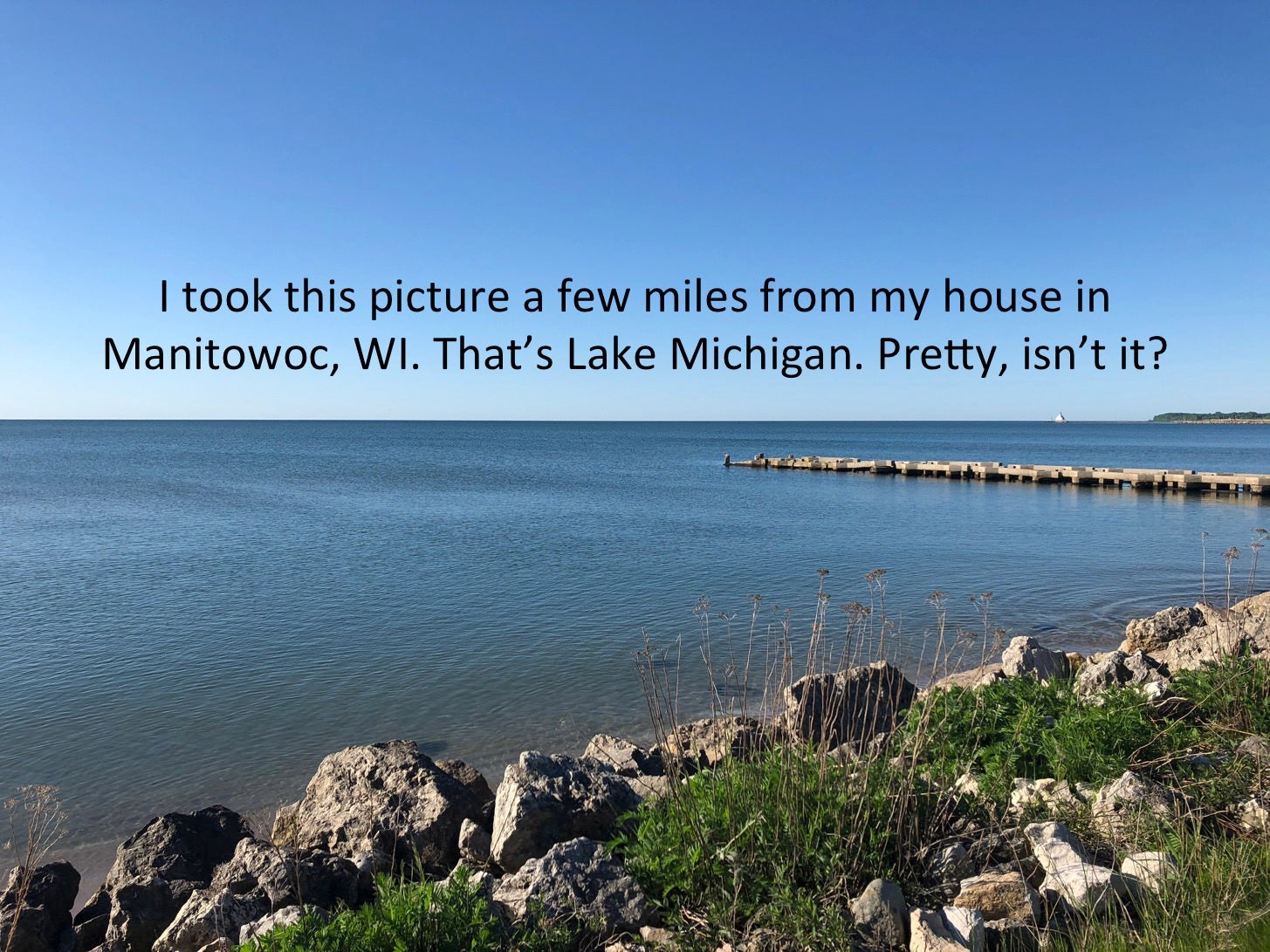 This guy used a picture of Lake Michigan and science to
