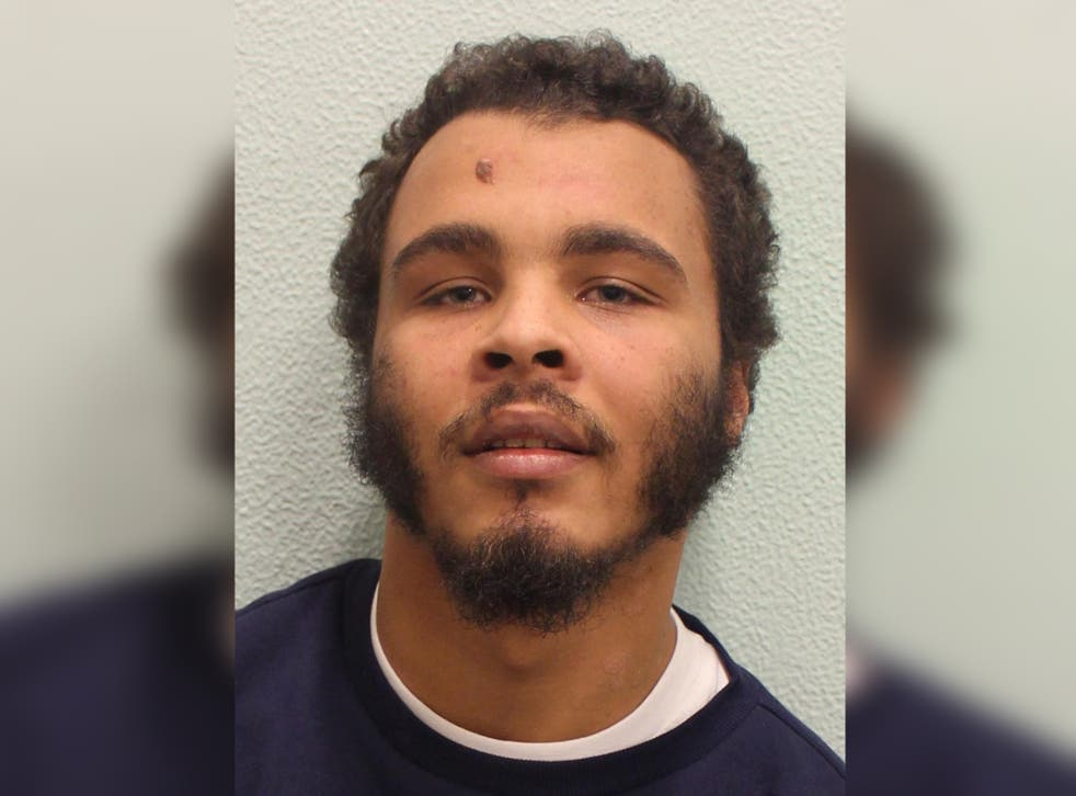 Jordan Bailey-Mascoll, 25, who was convicted of murdering Danny Pearce in Greenwich