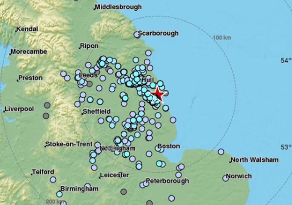Map Of England Lincolnshire.Lincolnshire Earthquake 3 9 Magnitude Tremor Felt Near Grimsby