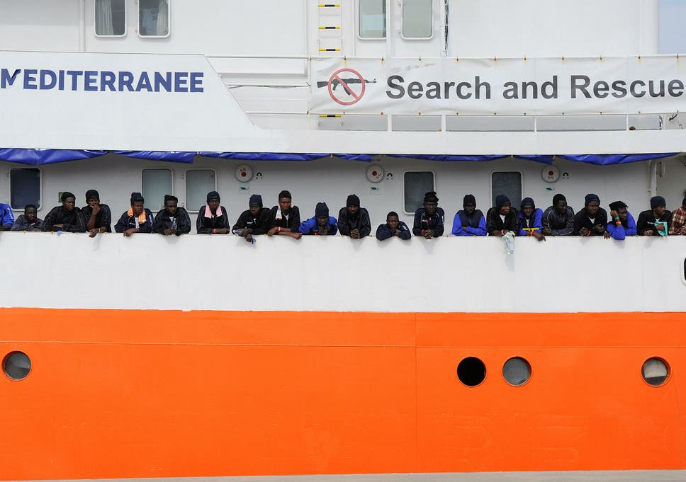 The 'Aquarius' has been involved in numerous refugee rescue operations