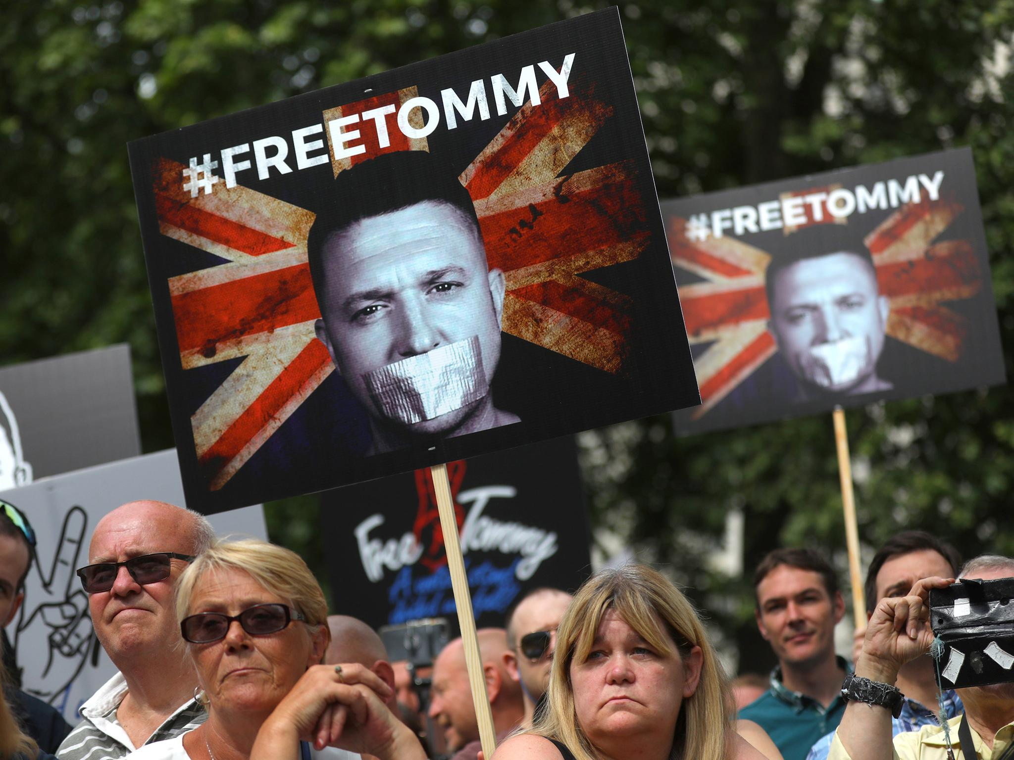Trump ambassador 'lobbied Britain on behalf of jailed right-wing activist Tommy Robinson' Tommy-robinson-protest-1
