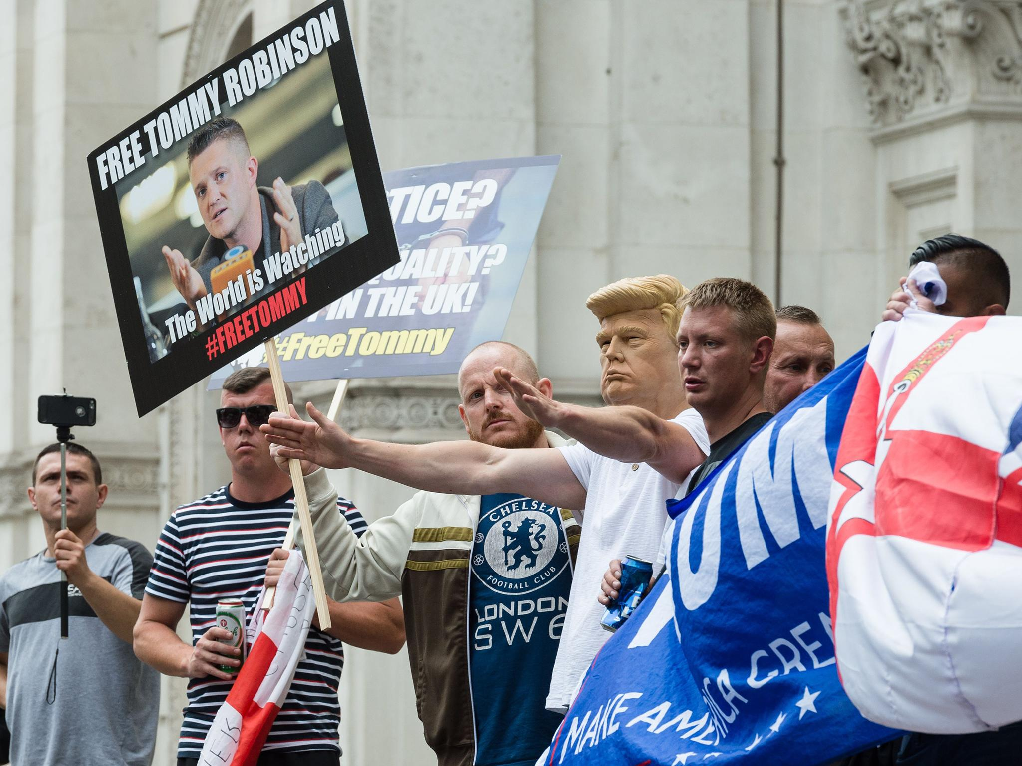 Trump ambassador 'lobbied Britain on behalf of jailed right-wing activist Tommy Robinson' Tommy-robinson-protest-20