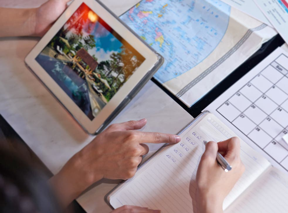 Booking holiday insurance, changing spending money into local currency and checking the weather are priorities for parents