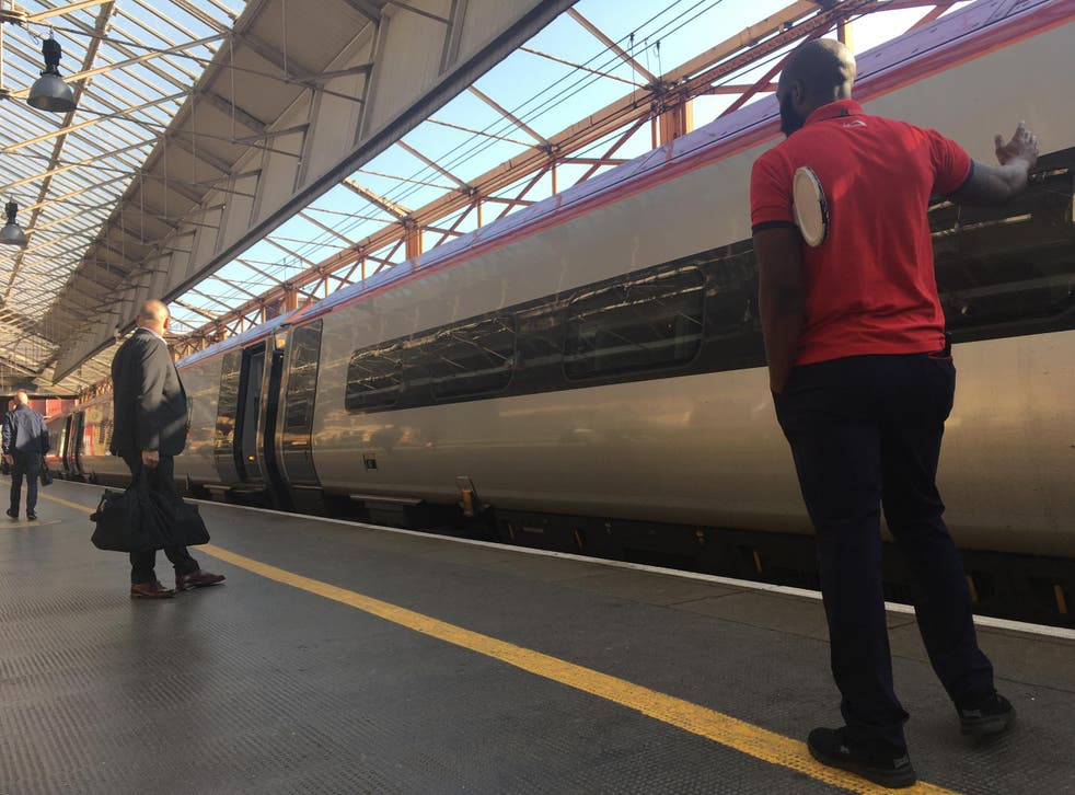 Time pressure: Virgin Trains West Coast service heading north from Preston to Scotland