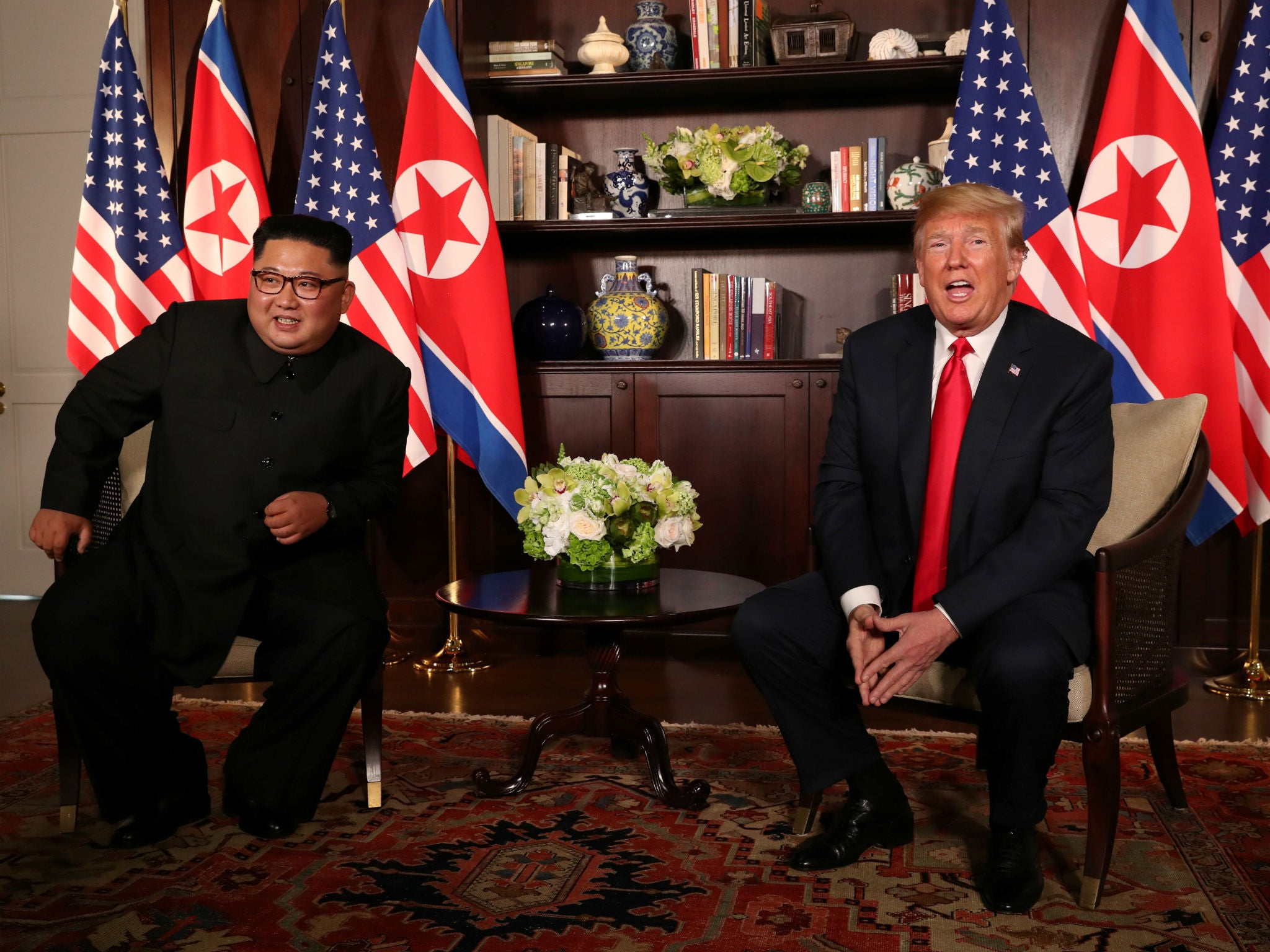 Trump-Kim meeting: US president says 'we will have a terrific relationship' as he meets North Korea leader