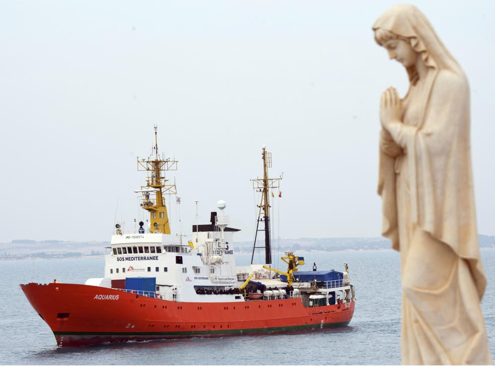The Aquarius has been refused entry to Italian ports