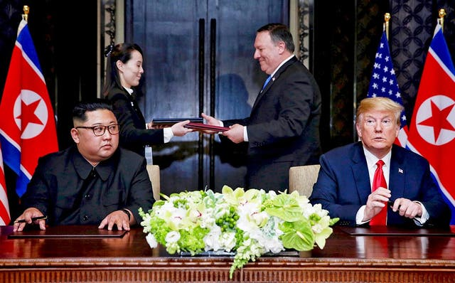 The cancellation follows the June 12 meeting between Donald Trump and Kim Jong-un in Singapore