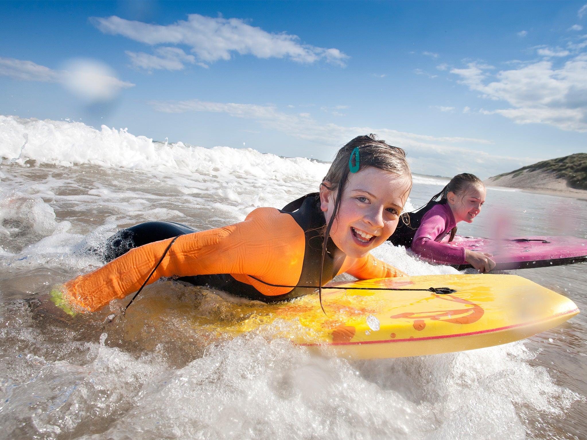 Boys Swimsuit 2 Piece Long Sleeve Uv 40 New Sea Surfer Swim Wear Age 2-3