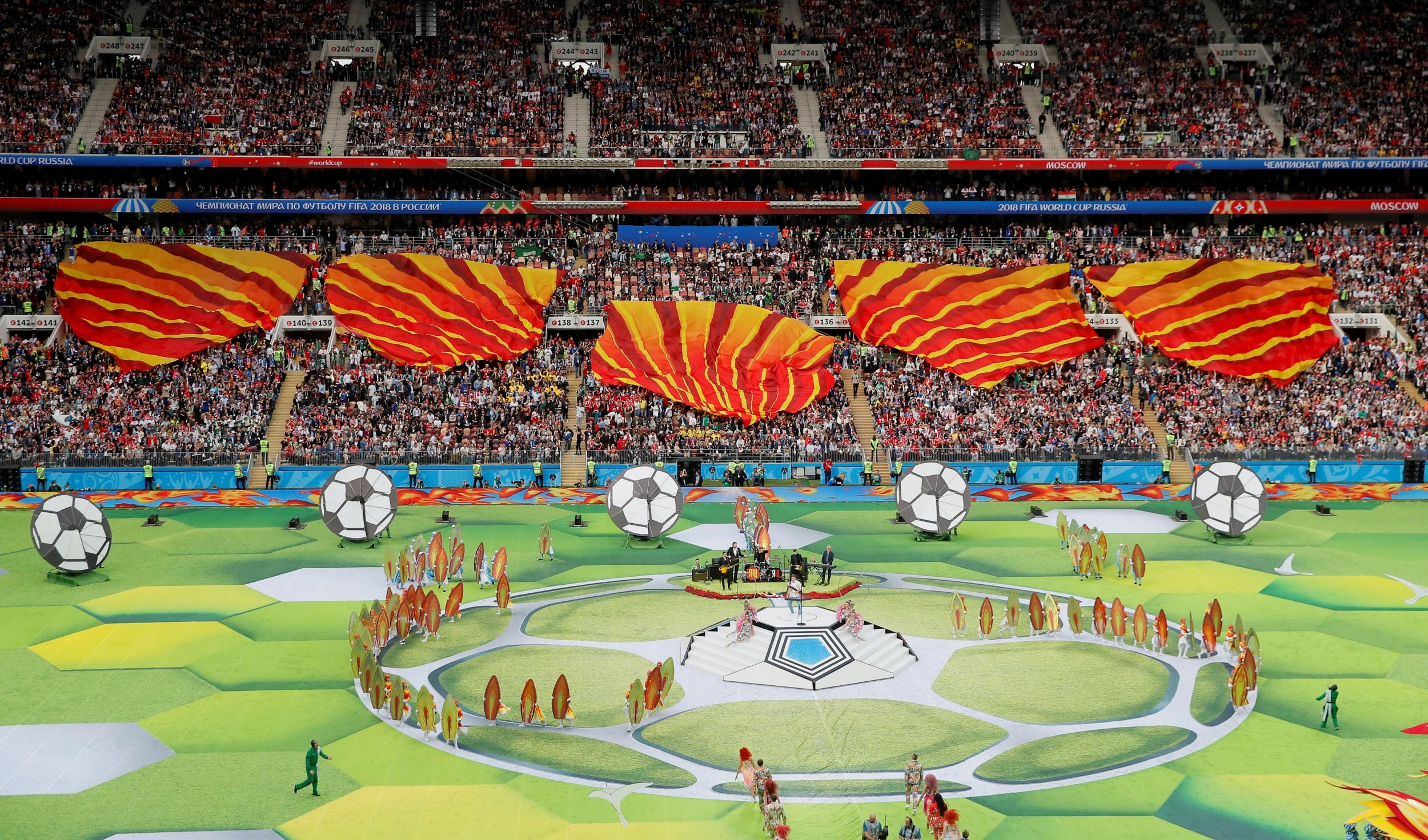 698e228f071 World Cup 2018 opening ceremony as it happened  Moscow dazzles as Robbie  Williams helps kick off tournament